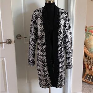Sweaters - Ladies Long Cardigan-Size L